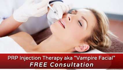 PRP Injection Therapy Vampire Facial Free Consultation in Green Bay